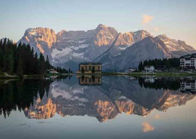 Tramonto Lago di Misurina tour International Limousine Service